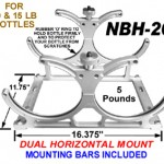 Aluminum Nitrous Bottle Brackets